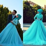Newest Islamic Wedding Gowns With Hijab