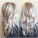 Platinum Blonde and Curly Lob Hair