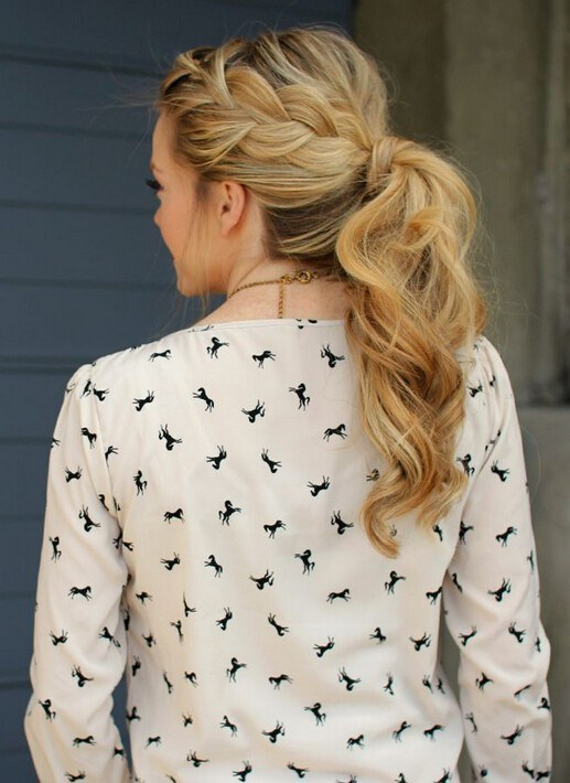 Beautiful French Braid Ponytails for Long Hair