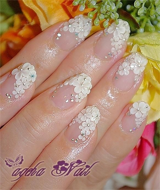 10+ Stylish Nail Art Themes for Wedding Day 2016 2017 - Reny styles
