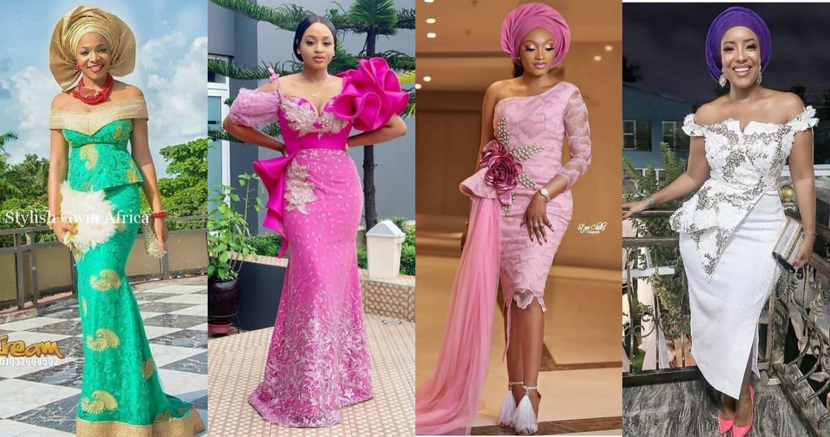 Aso Ebi Cord Lace Styles For Wedding Guest Reny Styles