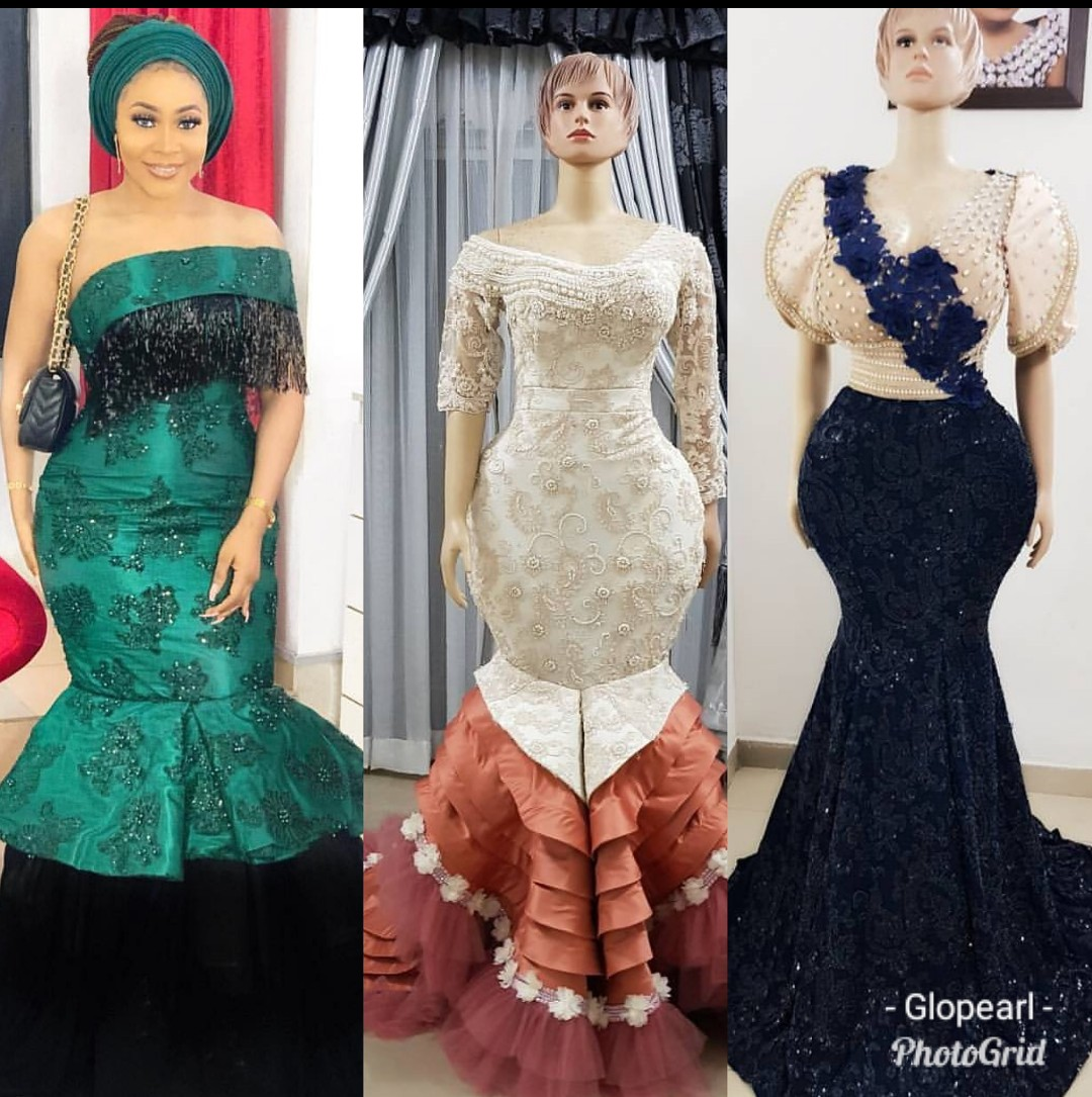 Wonderful Nigerian Aso Ebi dresses 2019